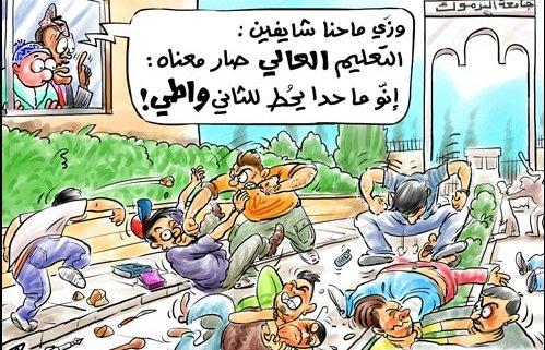 العنف الجامعي في الأردن