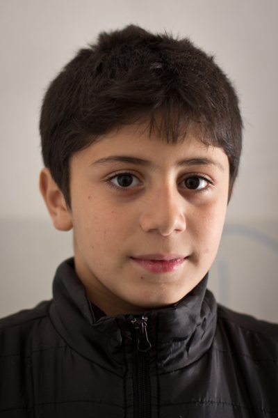 a Syrian child from Homs