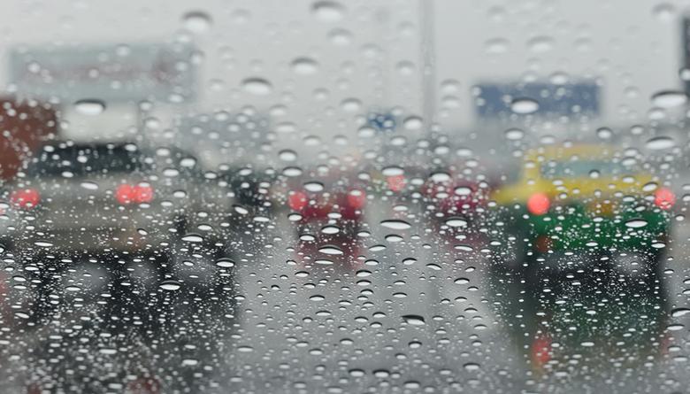 amman car rain