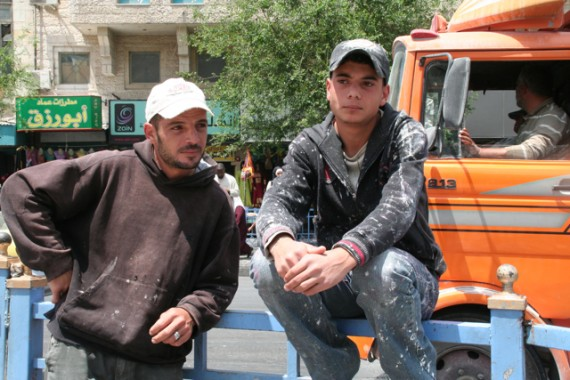 Workers in Downtown Amman